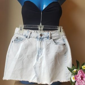 Acid washed  Denim Skirt